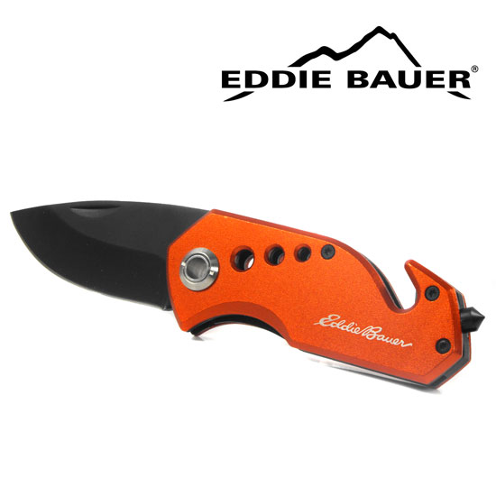 Eddie Bauer Auto Emergency Knife with Seat Belt Cutter and Glass Breaker - Ships Free!