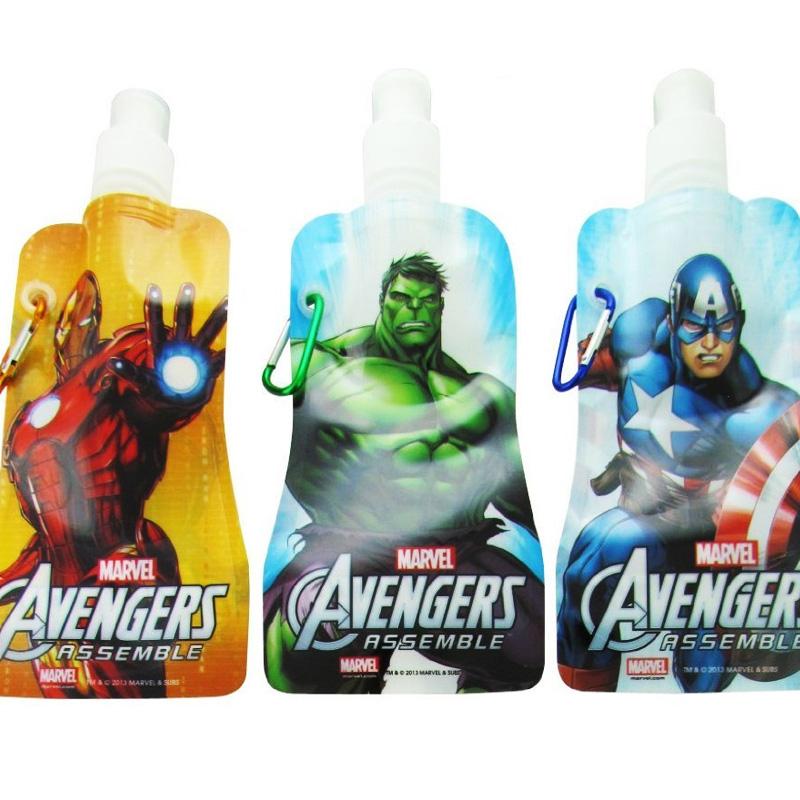 3 pk Marvel Avengers Collapsible Foldable Water Bottles - SHIPS FREE!