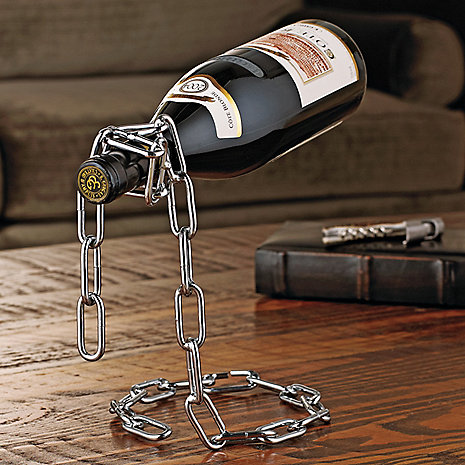 Magic Chain Floating Wine Bottle Holder - One for $10 or Two for $15! SHIPS FREE!