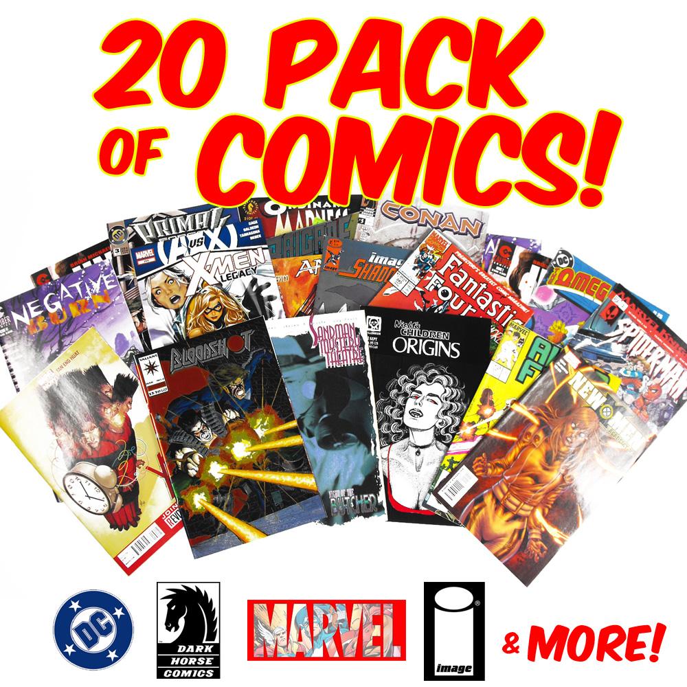 20 Pack of Random Comics - Marvel DC Image & More- SHIPS FREE!