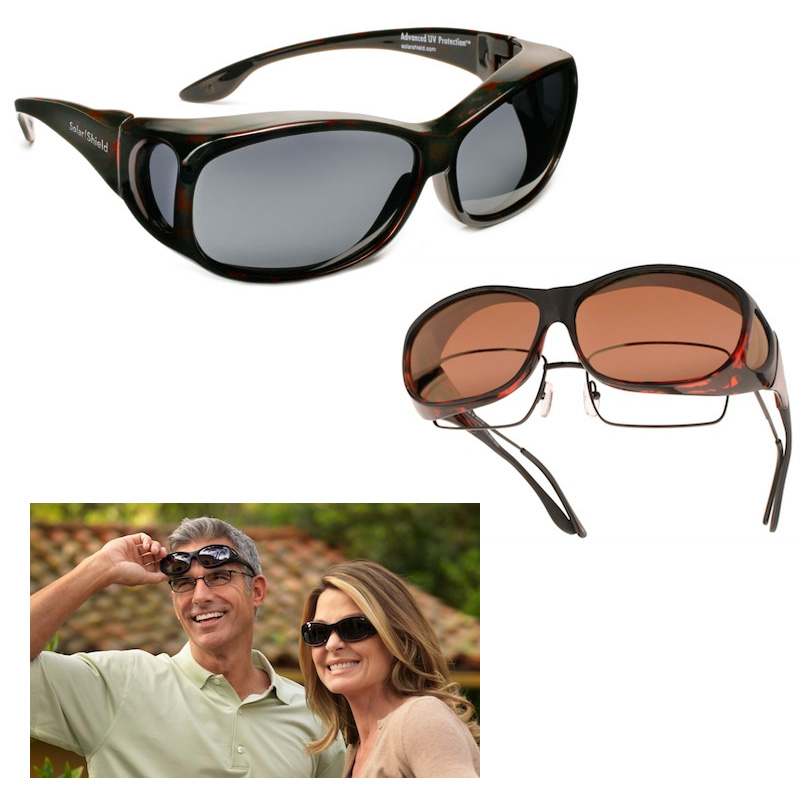 2 Pack Fit-Over Polarized Sunglasses For Men and Women - Fits Over Your Prescription Glasses -Two for $15 or Four for $25! SHIPS FREE!