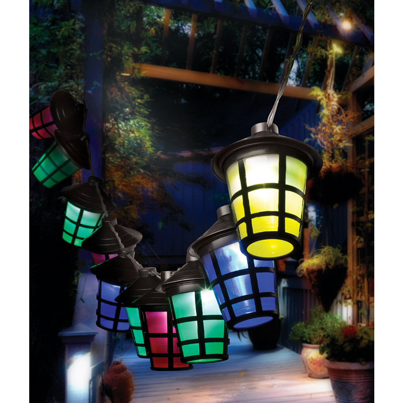 Hanging 10 Lantern Battery Operated LED String Lights - SHIPS FREE!