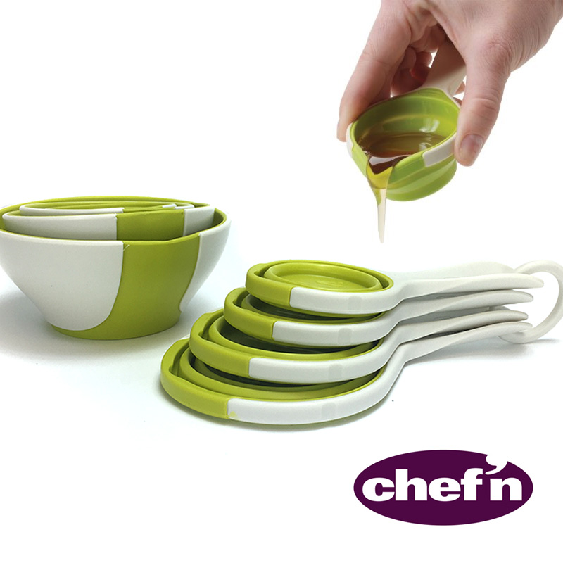 Pinch 'N Pour Measuring Cups and Bowls Set by Chef'n - SEE THE VIDEO - SHIPS FREE!