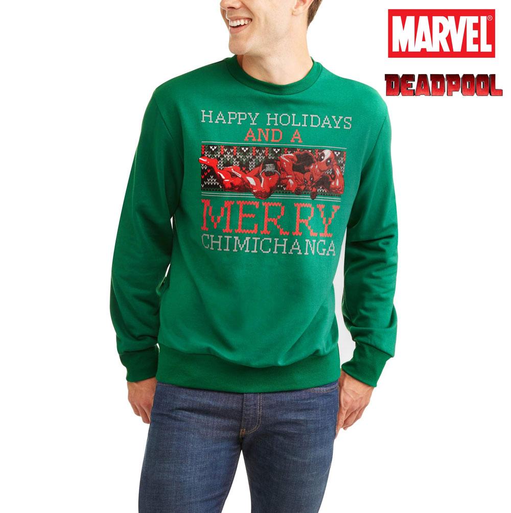 Meatball.ThatDailyDeal - EXTREME SGD - Marvel Men\'s Deadpool Merry ...