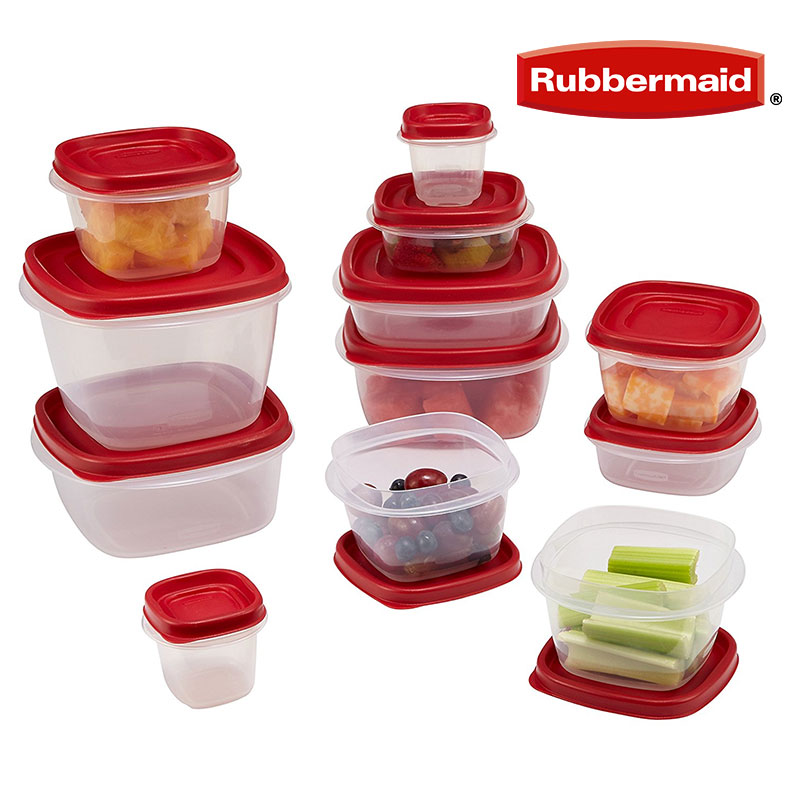 ThatDailyDeal   EXTREME SGD   Rubbermaid 24 Piece Food Storage Container  Set With Lid   Made In USA! SHIPS FREE!